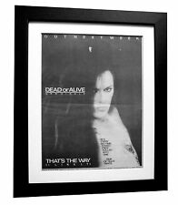 DEAD OR ALIVE+That's The Way+POSTER+AD+ORIGINAL+1984+FRAMED+EXPRESS GLOBAL SHIP
