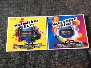 Sunshine Live Vol.57 + 58 [6 CD] Robin Schulz ATB Felix Jaehn Alan Walker Fedde