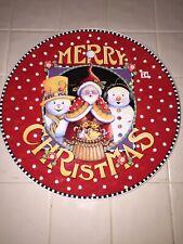 Santa Barabara Mary Engelbreit Christmas Platter 14� Euc
