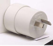 HPM REVERSE TRAVEL ADAPTOR 2-Pin Plug EU CA US to AU 240V 10amps White-2pcs