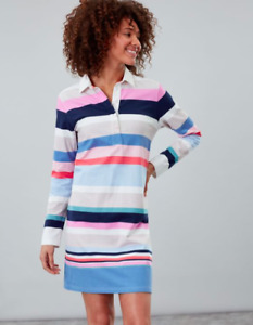JOULES Winona Long Rugby Top Tunic Dress 14 RRP£49.95 FreeUKP&P