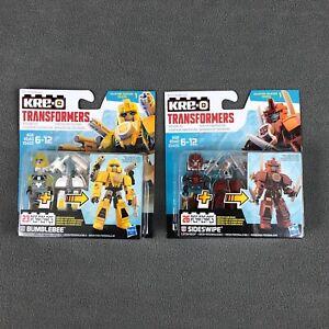KRE-O Transformers Bumblebee & Sideswipe Building Sets Brand New Set Robot Toys