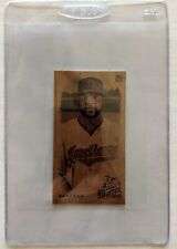 2019 Allen and Ginter Carlos Santana Wood Mini 1/1 Cleveland Indians