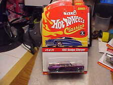 Hot Wheels Classics Series 1 1967 Dodge Charger Purple with 5 Spoke Wheels