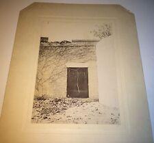 Rare Antique American Artistic Dark Doorway Enlarged Kodak? C.1905 Cabinet Photo