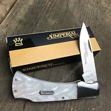 Imperial Schrade Cracked Ice Handles Folding Lockback Pocket Knife New!