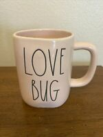 Rae Dunn LOVE BUG Mug Light Pink Valentines Day LL Matte By Magenta New/ Unused