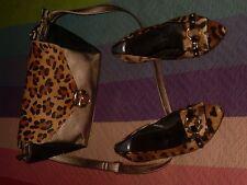bolso leopardo M&R comprado Corte Ingles marron dorado viejo no brilla y negro