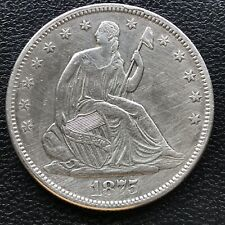 1875 S Seated Liberty Half Dollar 50c Better Grade AU Details #16767