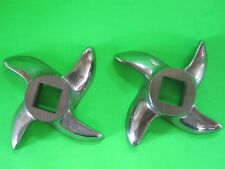 TWO PACK Size #12 meat grinder chopper knife blade STAINLESS STEEL