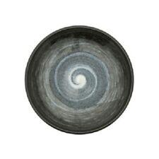 "Japanese Dinner Dish Plate 7.75""D Ceramic Fu-Un Swirl Artic Night Made in Japan"