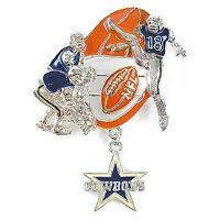 NFL Football Dallas Cowboys NFC Silver Charm Pin