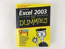 Excel 2003 All-in-One Desk Reference for Dummies® by Greg Harvey (2003, Paperbac