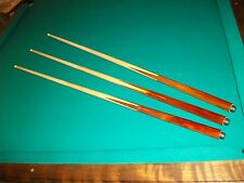 "3 Brand New One Piece Pool Cues sticks Bar House Maple 4-Prong inlay 48"" inch"