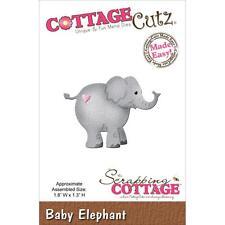 "CottageCutz Die Assembled Size 1.8""X1.3""~  Baby Elephant, CC004 ~ NIP"