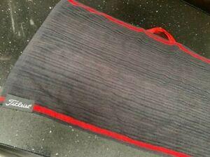 Titleist Golf bag towel - black with red trim