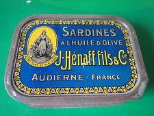 Boîte en fer de sardines   1950 Audierne Jean HENAFF