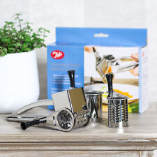Tala Stainless Steel Rotary Grater 3 Drum Parmesan Cheese Slicer Fine Coarse