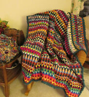 Drop Stitch Afghan pattern in Crochet Stash Busting & Addictive & photo how tos