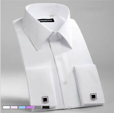 New Men's Formal Slim French Cuff Casual Long Sleeve Business Dress Shirts XT340