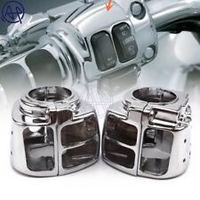 Aluminum Handlebar Switch Button Chrome Housing Cover For Harley Sportster 96-12