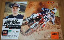 2015 Dean Wilson Red Bull KTM 450 SX-F AMA Supercross Motocross poster