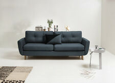 NEW 3 Three Seater Sofa Bed with Storage Grey fabric , Massive Bed. Oak Legs