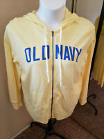 Women's NWT OLD NAVY Yellow Zippered Lightweight Hoodie Size XL