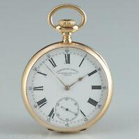 56mm Patek Philippe & Cie. Genève Chronometro Gondolo 18k Gold Pocket Watch 1905