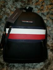Tommy Hilfiger Women Leather Backpack Authentic Black Color Medium