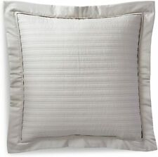 RALPH LAUREN Reed Decorative Pillow VINTAGE SILVER Channel Quilted Cotton NEW