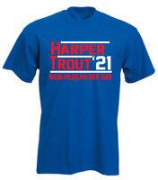 Bryce Harper Mike Trout Philadelphia Phillies 2021 T-Shirt