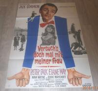 A1-Filmplakat  VERSUCH`S DOCH MAL MIT MEINER FRAU,PETER FALK,E  MAY,JACK LEMMON