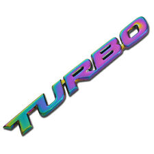 NEO METAL TURBO TEXT ENGINE RACE MOTOR SWAP EMBLEM BADGE FOR TRUNK HOOD DOOR
