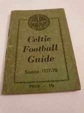 Celtic FC 'Wee Green Book' 1977-78 Football Guide