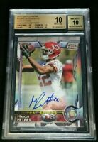 BGS 10/10 1/1 MARCUS PETERS RC AUTO #1/150 SP ROOKIE REFRACTOR 2015 Topps Chrome