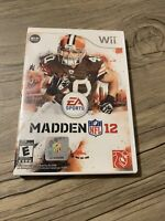 Madden NFL 12 (Nintendo Wii, 2011) - Tested - No Manual