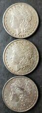 1887 S, 1896, and 1900 O $1 Morgan Silver Dollars