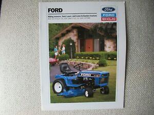1990 Ford New Holland LT LGT YT R lawn garden tractor brochure