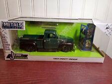Jada Just Trucks 1953 Chevy 3100 Pickup Truck w/Tire Rack 1:24 Diecast Green