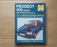 PEUGEOT 405 DIESEL HAYNES MANUAL 1988 TO 1996  E to N reg  SALOON ESTATE