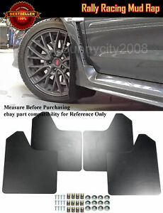 "15""x11.5"" 4 Pcs Black Rally Racing Flexible Mud Flaps Splash Guard Fit Chevy..."