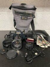 Canon T50 SLR Camera /w Canon Zoom Lens FD 35-105mm 1:3.5 Flash & Remote Switch