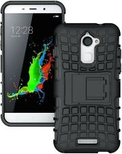 """New Coolpad Note 3 Lite - 5""""  Armor defender kick stand Hybrid cover case black"""