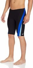 Speedo Blue Black Mens Size 30 Stripe-Trim Jammer Swimwear Dive Shorts $54 079