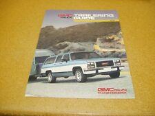 1991 GMC truck trailering towing Guide Sierra Sonoma Suburban sales Brochure