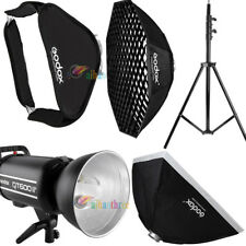 Godox QT600IIM 600W 2.4G HSS 1/8000s Studio Strobe Flash Light + Softbox + Stand