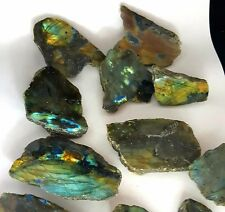 Super Labradorita Cristal Oro Pulido Azul Flash Gema Chakra Piedra de Curación de Palma
