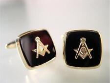 Freimaurer Manschettenknöpfe, Symbol und Onyx