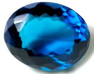 31.40 Ct Natural Afghani Blue Indicolite AAA++ AGSL Certified Oval Cut Gem